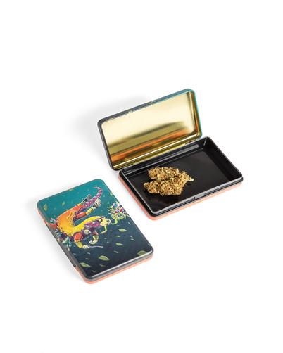 קופסה אטומה לאחסון צמחים וקנאביס