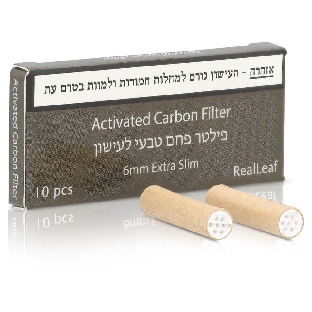 פילטר פחם טבעי לגלגול סיגריות או ג'ויינט